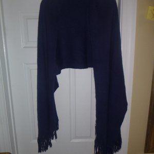 "H&M Accessories - Women's Large 80"" x 18"" Blue Scarf / Wrap"